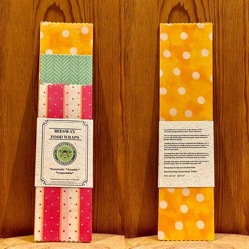 Beeswax Food Wraps- set of 3