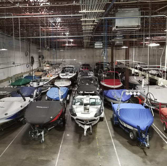 Perfectly parked boats. It's an art.