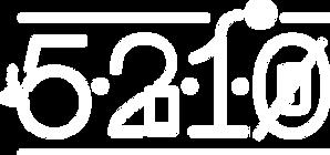 5-2-1-0 Logo in white