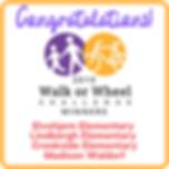 The 2019 Walk or Wheel Challenge winners plaque