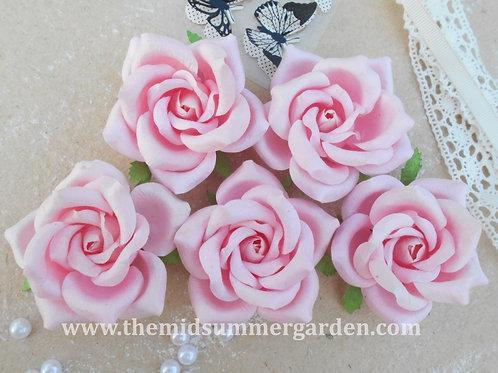 25 Pcs. Mulberry Paper Rose 65 mm for Art, Craft, Scrapbook, Embellishment, DIY