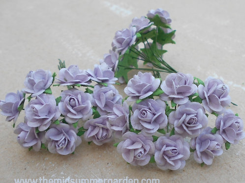 Mulberry Paper Rose 15 mm in Soft Purple