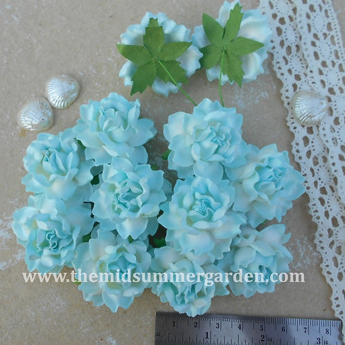 25 Pcs. Mulberry Paper Rose Flower 35 mm Embellishment & DIY Projects.
