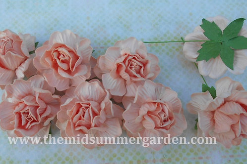 20 Pcs. Mulberry Paper Rose 45 mm for Art, Craft and DIY Project