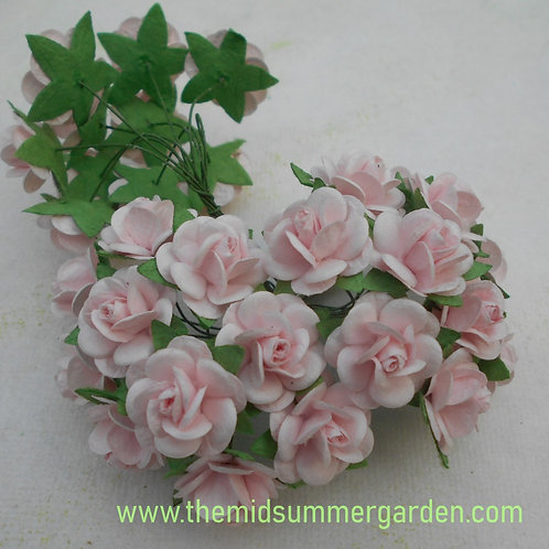 Mulberry Paper Rose 20 mm in Soft Pink