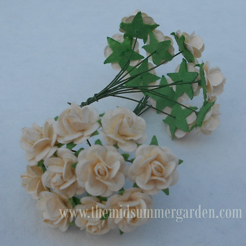 100Pcs. Mulberry Paper Rose 15 mm for Craft, DIY and Scrapbook
