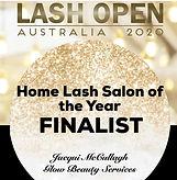 Lash Open Australia 2020 Home Lash Salon of the Year Finalist