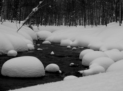 snow on the stream