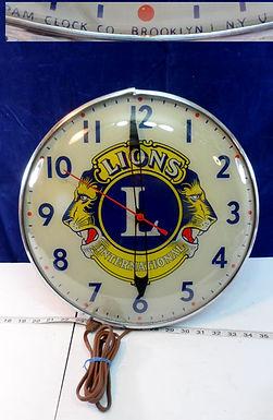Lions International Advertising Wall Clock Works