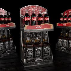 Coca-Cola & Jack Daniel's display