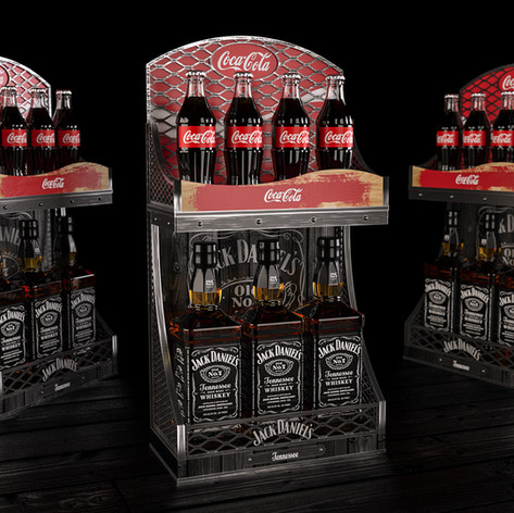 Coca-Cola & Jack Daniel's display