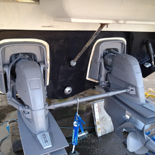 Service completed, cleaned, antifouled and ready to go.