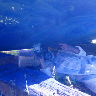 Removal of antifouling paint.