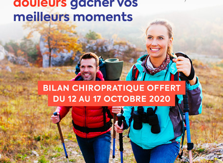 WORLD SPINE DAY 2020 - bilan offert 12 au 17 octobre