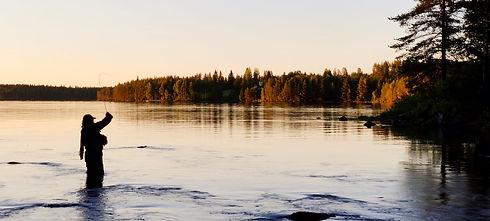 Perhokalastus Änättikoski Kuhmo