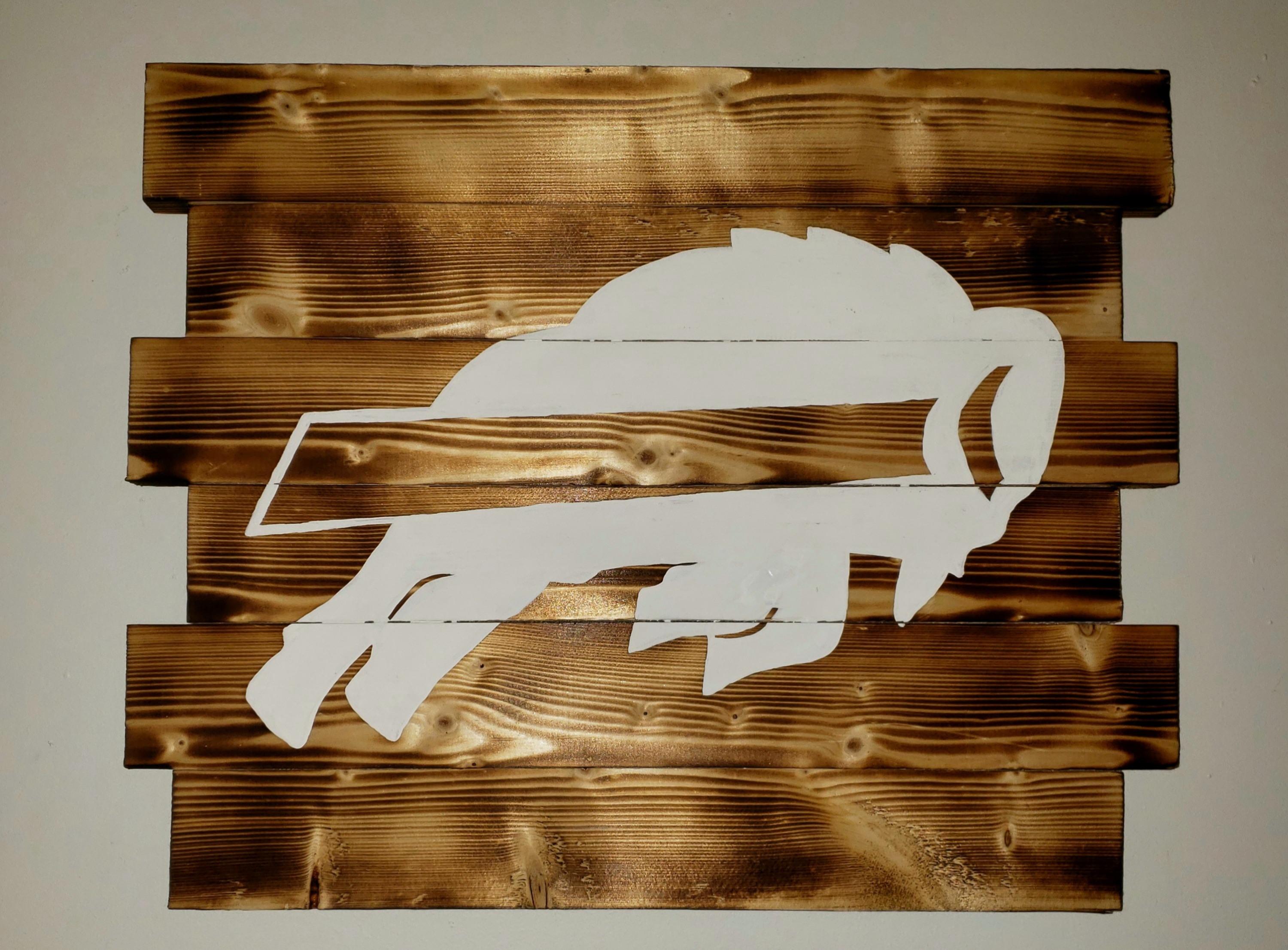 Rustic Buffalo Bills Sign