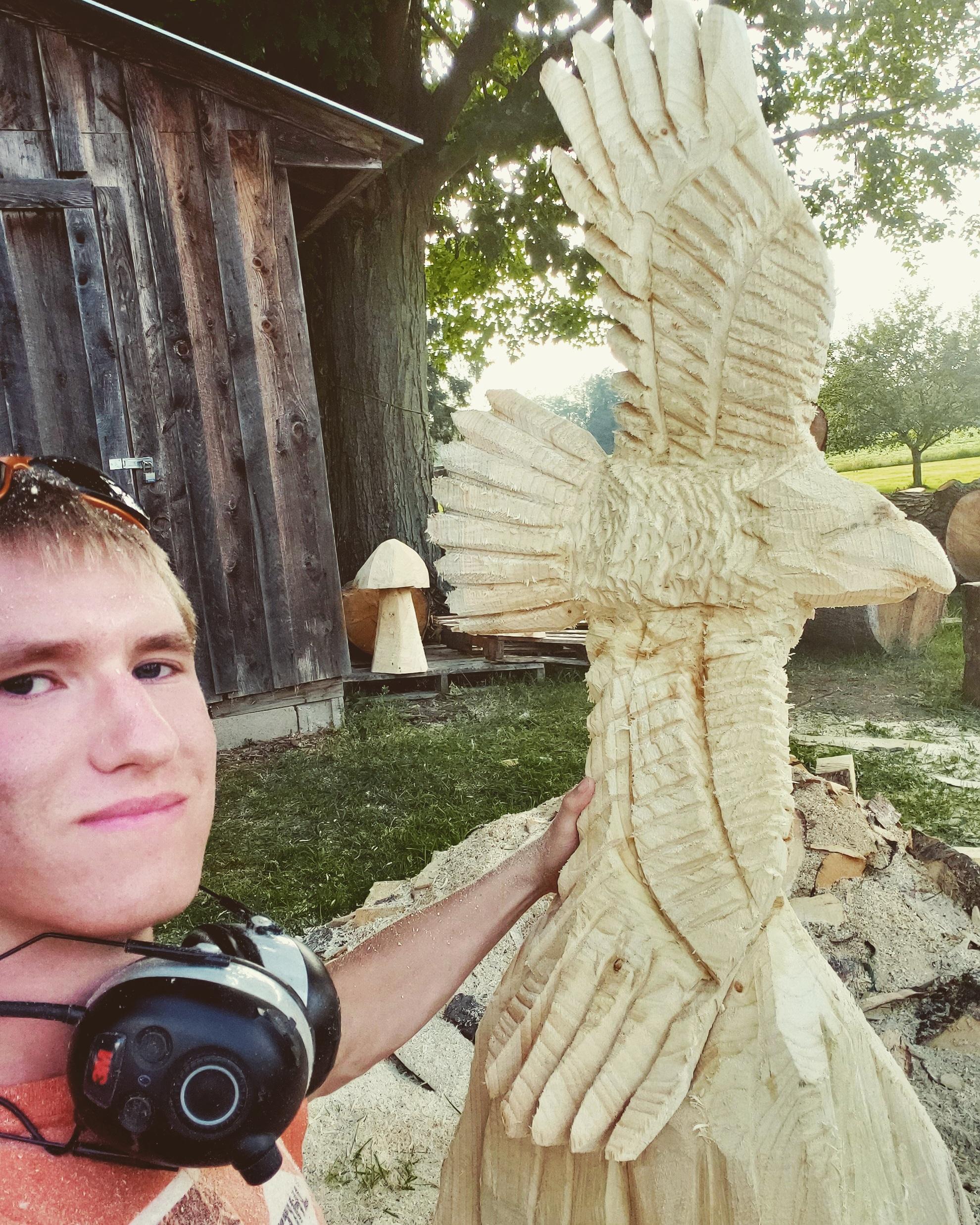 Natural Eagle Carving