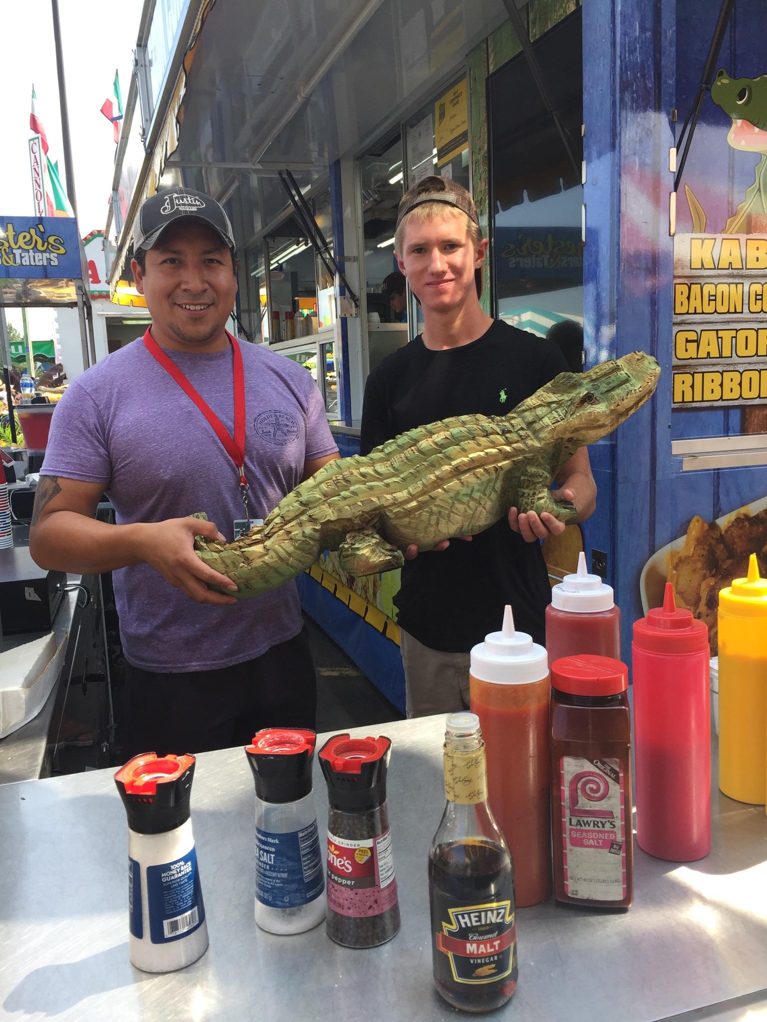 Alligator Carving