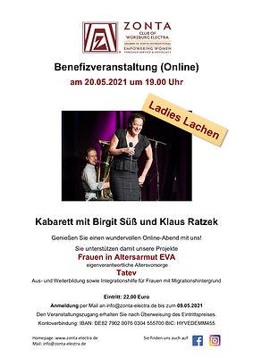 Einladung Online Benefizevent Birgit Sü