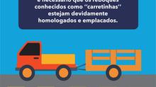 Carretinha também é Veículo. Ministério das Cidades Alerta!
