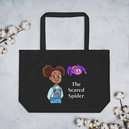 The Scared Spider - Large organic tote bag