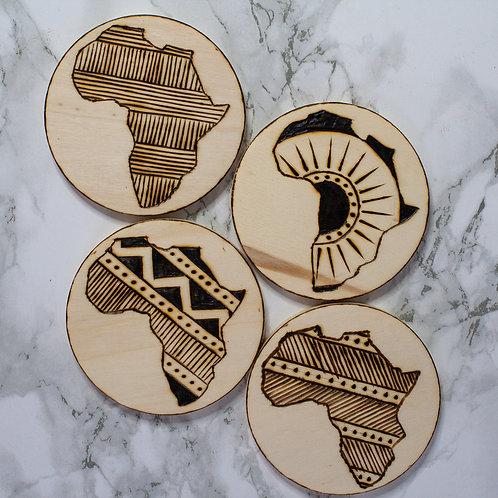 Africa coasters