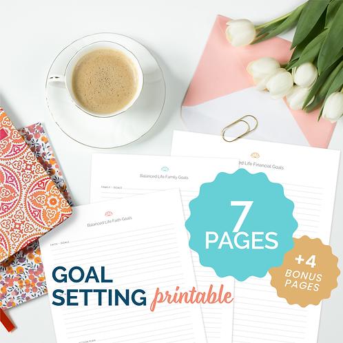 The Balanced Life Goal Setting Printable