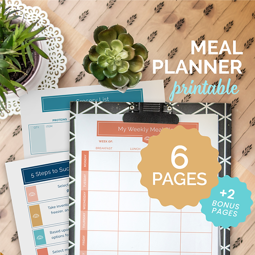 The Balanced Life by Karen Rae® Meal Planning System (Solid)