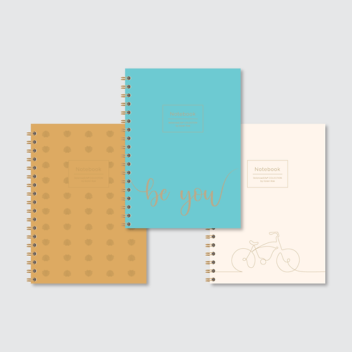 """""""Keep Moving"""" COLLECTION of Designer Notebooks (3-pack)"""
