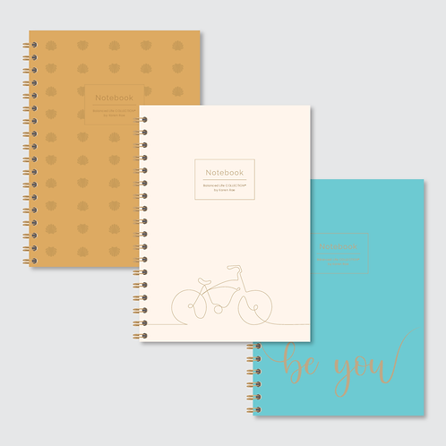 """""""Be You"""" COLLECTION of Designer Notebooks (3-pack)"""
