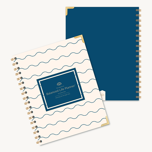 The Signature Balanced Life Planner®  Blue Wave Cover