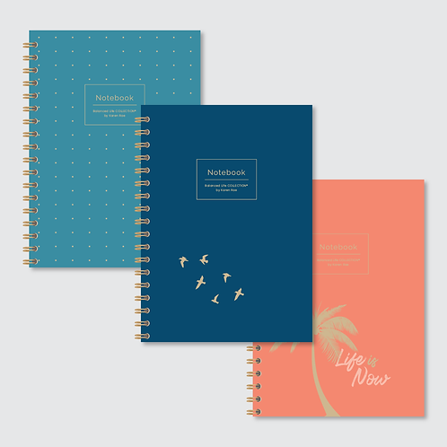"""Life is Now"" COLLECTION of Designer Notebooks (3-Pack)"