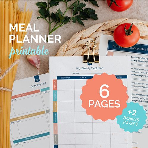 The Balanced Life by Karen Rae® Meal Planning System (Colorful)