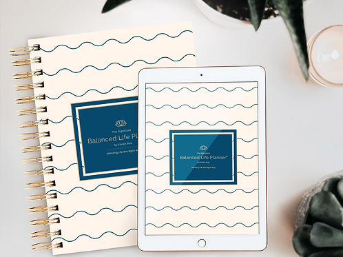 The Signature Balanced Life Planner® Blue Wave Cover (Digital Download)