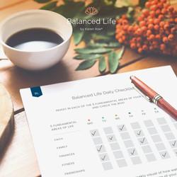 Balanced Life Daily Checklist