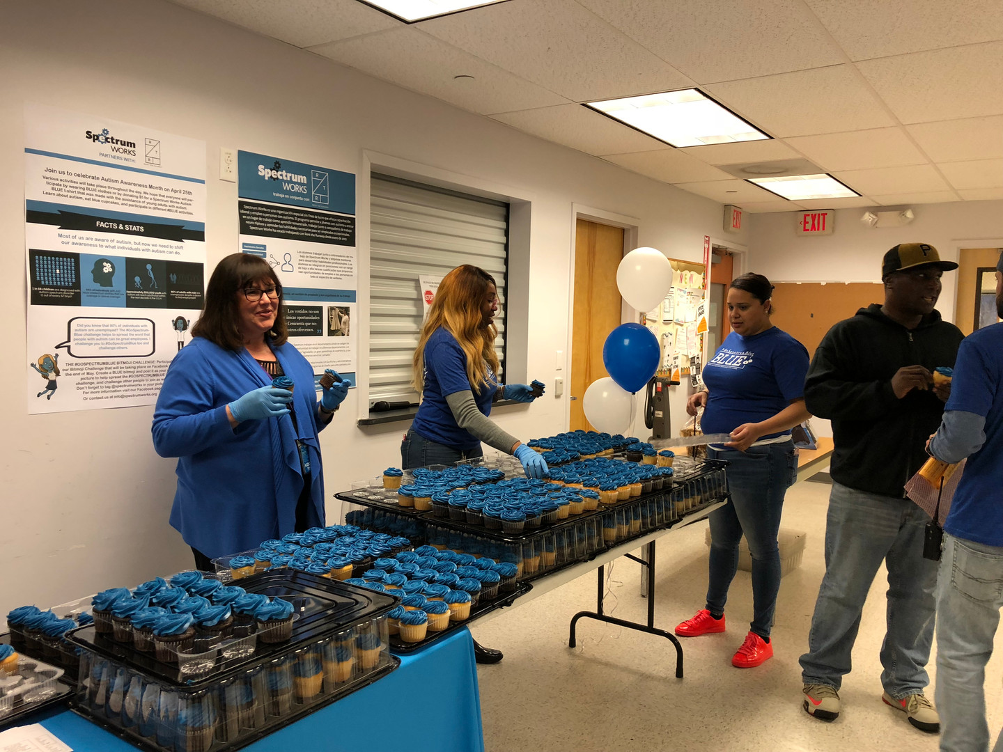 BLUE day at Rent the Runway