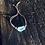 Thumbnail: Topázio Azul pulseira de couro e prata ajustável