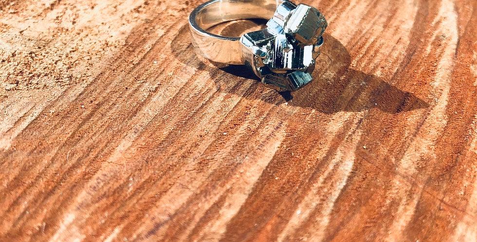 Pirita anel de prata n17