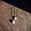 Thumbnail: Kunzita e Topázio Azul escapulário de prata oxidada