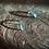 Thumbnail: Água Marinha ear hook de prata