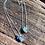 Thumbnail: Cianita Azul e Esmeralda escapulário moldura de prata