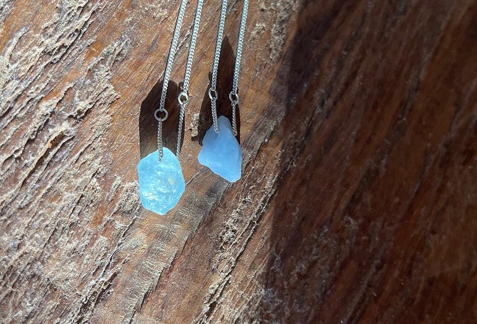 Angelita e Topázio Azul escapulário de prata