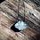 Thumbnail: Pedra da Cruz corrente de prata longa oxidada