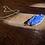 Thumbnail: Lápis Lazuli corrente de prata moldura curta
