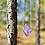 Thumbnail: Ametista corrente de prata moldura longa