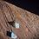 Thumbnail: Larimar e Topázio Azul escapulário de prata oxidada