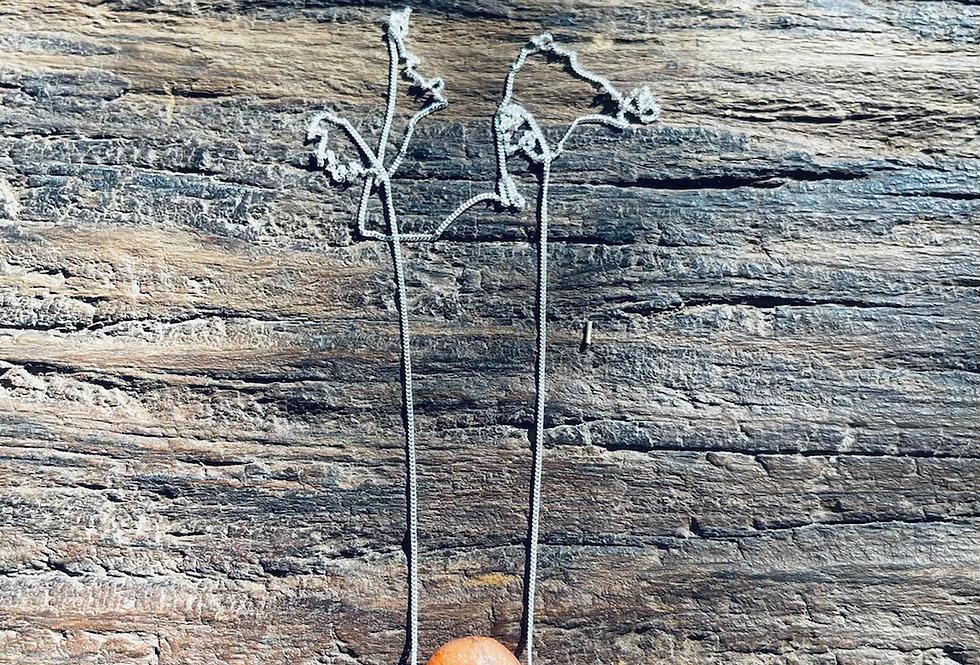 Cornalina corrente de prata longa