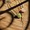 Thumbnail: Turmalina Rosa e Turmalina Verde escapulário de prata oxidado