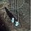 Thumbnail: Celestita e Topázio Azul escapulário de prata