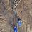 Thumbnail: Cianita Azul e Lápis Lazuli escapulário moldura de prata